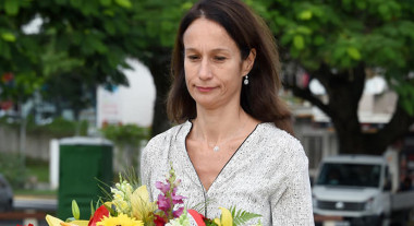 Isabelle Champmoreau, membre du gouvernement en charge notamment de l'enseignement, a participé à la cérémonie.