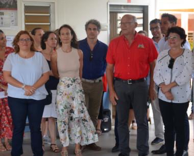 Isabelle Champmoreau a assisté à la rentrée des élèves de l'école Jacques-Clavel au Mont-Dore.
