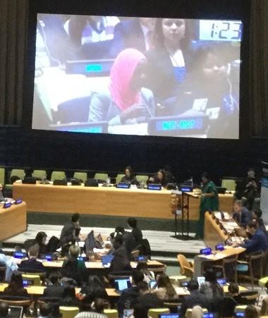 Plus de 700 jeunes et une cinquantaine de représentants de gouvernements ont participé au Forum de la jeunesse 2018 les 30 et 31 janvier au siège de l'ONU à New York.
