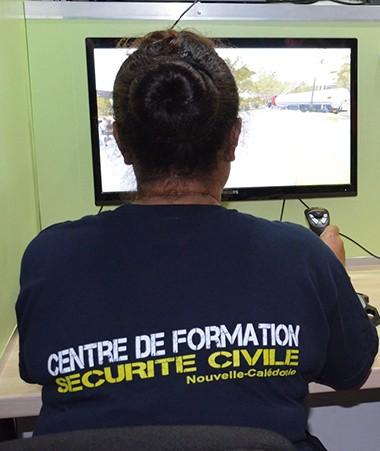 L'apprentissage du logiciel de simulation multirisques XVR s'est déroulé au centre de formation de la sécurité civile à Païta.