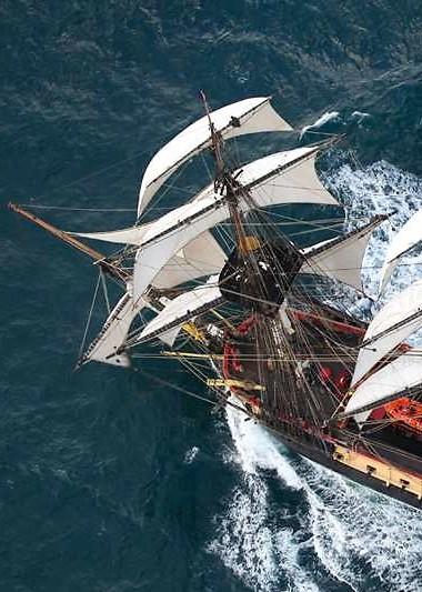 L'Hermione est une réplique du navire de guerre français en service de 1779 à 1793.