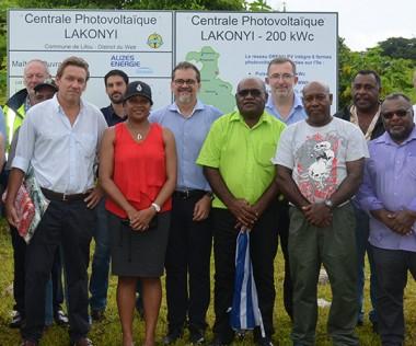 Philippe Dunoyer a assisté à la cérémonie de lancement officiel des travaux de construction du projet photovoltaïque Drehu PV, organisée par la société Alizés Énergie.