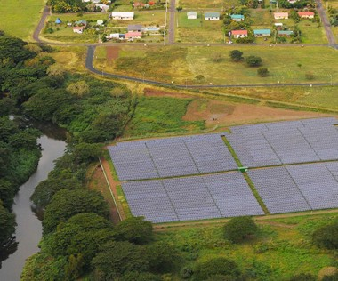 La centrale photovoltaïque au sol Hélio Témala s'étend sur 4,5 hectares.