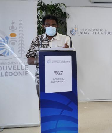 Adolphe Digoué et Christopher Gygès ont animé le point presse du gouvernement le 21 septembre dédié aux aides pour les acteurs économiques.