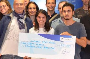 À l'issue de la cérémonie, chaque lauréat s'est vu remettre un chèque d'environ 50 000 francs au titre d'une participation aux frais engagés pour les épreuves orales d'admissibilité.