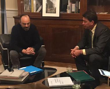En déplacement à Paris et à Bruxelles du 16 au 21 février, Thierry Santa s'est notamment entretenu avec le Premier ministre Edouard Philippe et la ministre des Outre-mer Annick Girardin.