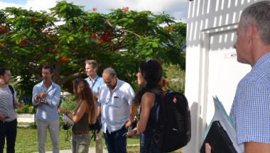 Le secrétaire général du gouvernement, la DASS, la DAPM, la DJS et la Croix-Rouge ont visité le centre de quarantaine mis sur pied au CISE.