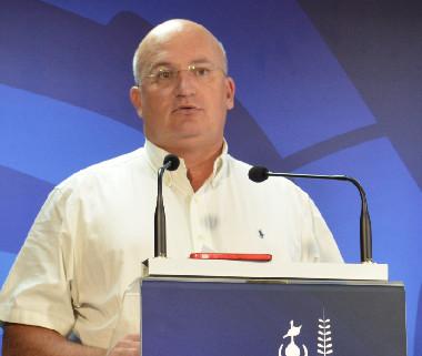 Yoann Lecourieux, en charge du budget au gouvernement, a présenté la teneur du débat d'orientation budgétaire à la presse, mardi 19 novembre.