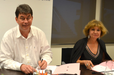 Lors de sa visite, Madeleine Mathieu, directrice de la PJJ a signé la convention avec le président Santa, le haut-commissaire Laurent Prévost et Didier Poidyaliwane, membre du gouvernement.