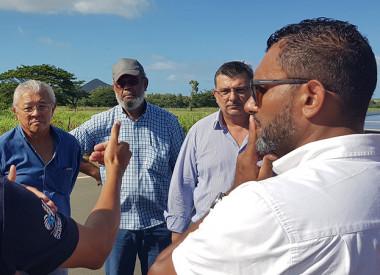 Dans la zone VKP, le président Germain a rencontré les élus, avec la DITTT et la sécurité civile, pour faire le point sur l'état des routes territoriales après le passage d'Oma.