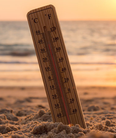 Comme l'ensemble du monde, la Nouvelle-Calédonie a connu en 2020 des températures supérieures à la moyenne (+0,6°C) qui confirment le réchauffement climatique global.