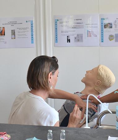 Depuis le 23 août, des sessions de formation à la vaccination contre le Covid-19 ont lieu à l'IFPSS pour les professionnels de santé volontaires.