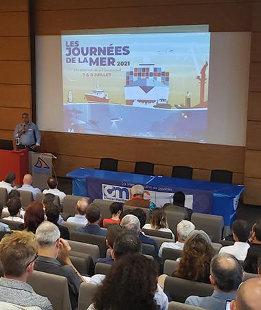 Le président du cluster maritime de Nouvelle-Calédonie, Philippe Darrason a ouvert la 5e édition des Journées de la mer (photos Emma Colombin/CMNC).