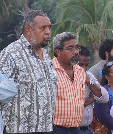 Mickaël Forrest et les intervenants ont été accueillis par les organisateurs du SOEFIP (Photos EPIFE).