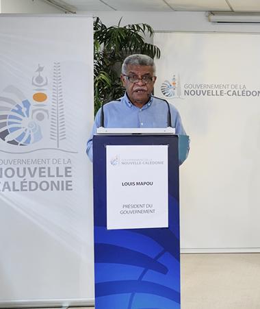 Louis Mapou et Patrice Faure se sont adressés aux Calédoniens le 1er octobre.