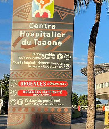 À l'hôpital de Taaone, « la mort est omniprésente », décrivent les soignants calédoniens venus en appui des équipes polynésiennes (photos CHPF).