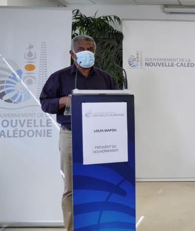 Le président du gouvernement Louis Mapou et le haut-commissaire Patrice Faure se sont adressés le 17 septembre aux Calédoniens.
