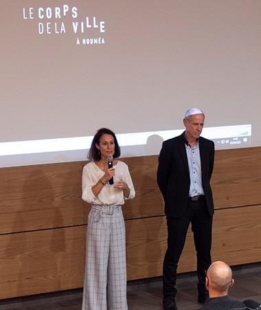 Isabelle Champmoreau a ouvert la projection du documentaire « Le Corps de la ville » pour les élèves du lycée Jules-Garnier le 9 septembre, aux côtés du vice-recteur Érick Roser.