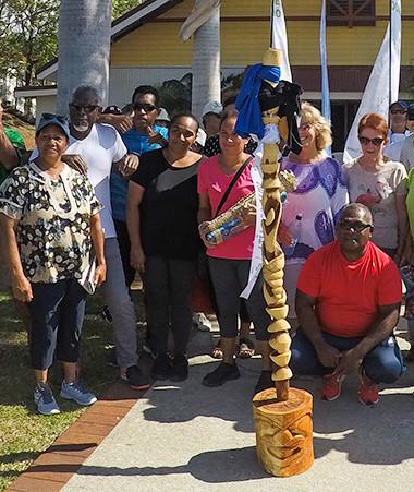 La commune de Païta à délivré la statue symbolique du parcours Do Kamo au centre socio culturel de Boulouparis.