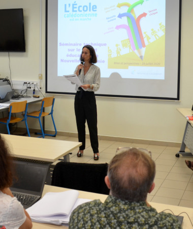 Le séminaire sur le Projet éducatif de la Nouvelle-Calédonie s'est déroulé à l'École supérieure du professorat et de l'éducation (ESPE) à Nouville.