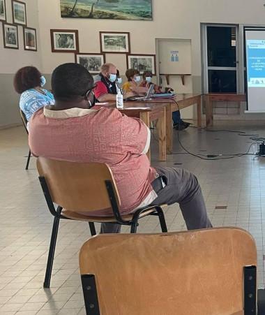 Joseph Manaute a participé le 8 octobre à la réunion de la cellule de crise de la commune de Poya.