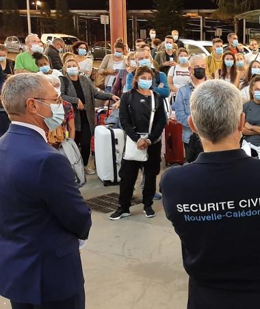 Les renforts de la solidarité nationale ont été accueillis le 21 septembre au soir par le haut-commissaire de la République et les services du gouvernement (photos HCR).