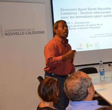 Jean-Pierre Djaïwé, membre du gouvernement notamment en charge de la jeunesse et des sports.