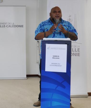 Gilbert Tyuienon et Vaimu'a Muliava ont animé le point presse du 22 septembre.