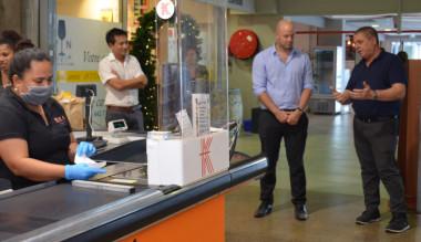 Jean-Marc Espalieu, fondateur du groupe Korail, a reçu Christopher Gygès au magasin de Pont-des-Français.
