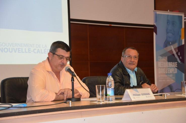 Philippe Germain et Jean-Louis d'Anglebermes, en ouverture du colloque.