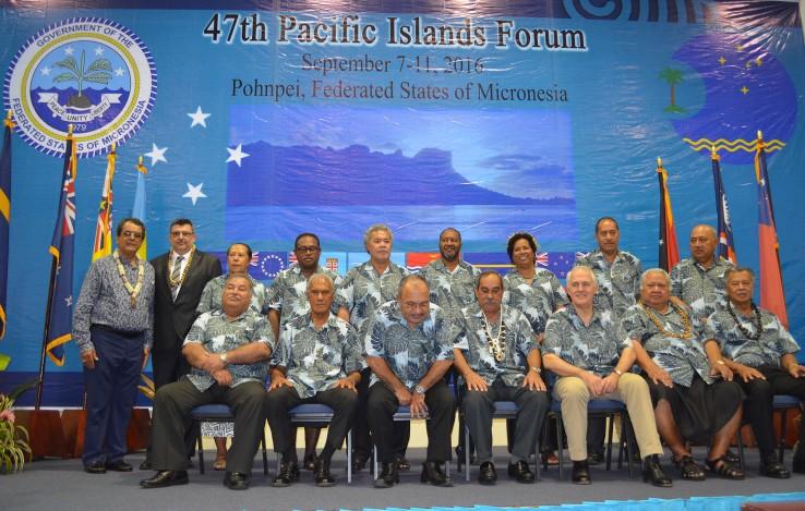 L'année prochaine, les présidents de la Nouvelle-Calédonie et de la Polynésie française seront assis avec les autres dirigeants du Forum du Pacifique.