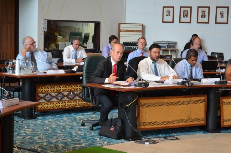 Éric Mevelec a prononcé un discours à l'occasion de l'ouverture des travaux de la commission, à la CPS, mercredi 30 novembre.