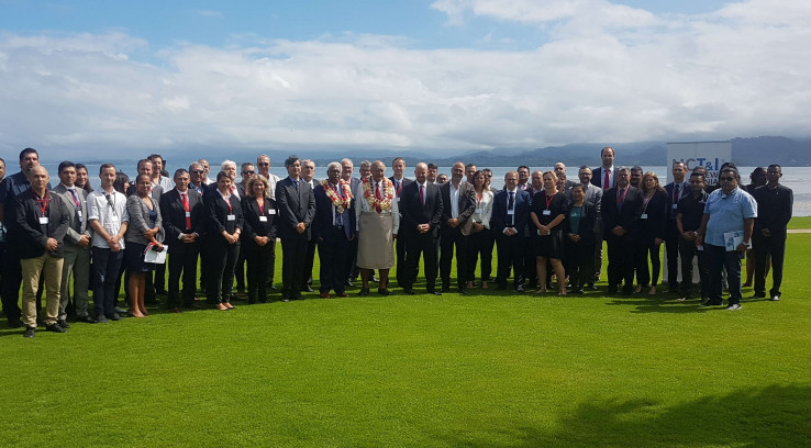 La délégation calédonienne en mission à Fidji.