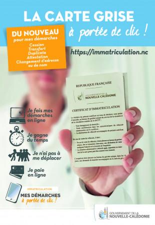 immatriculation.nc permet aux internautes calédoniens d'effectuer toutes leurs démarches liées à la carte grise et de recevoir par mail leur certificat d'immatriculation.