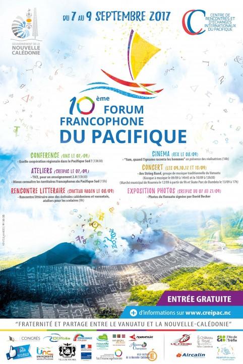 Le 10e Forum francophone du Pacifique se tient les 7, 8 et 9 septembre.