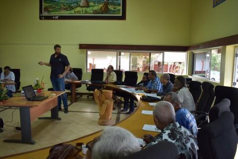 Pendant la réunion, l'étude réalisée sous la supervision de la DAVAR  pour la délimitation des périmètres de protection a été présentée.
