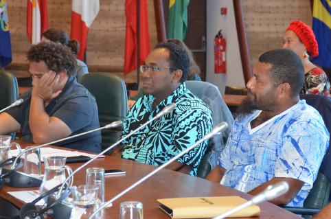 Thierry Xozame, directeur du Travail et de l'emploi (au centre) est intervenu pendant la matinée d'ouverture.