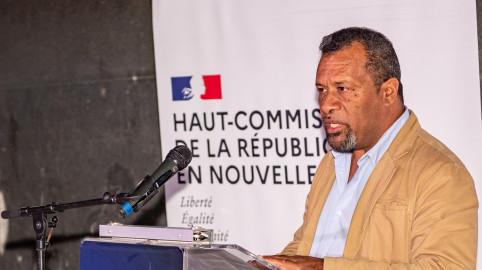 Didier Poidyaliwane a tenu à rendre hommage à « Déwé Gorodey qui, grâce à sa persévérance et à son insistance, a permis à ce projet de sortir de terre » (©www.noumea-photo.com / S. Peretti).