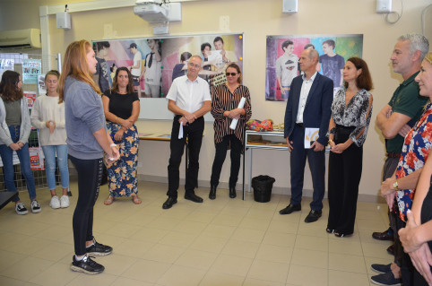 Isabelle Champmoreau a échangé avec les élèves qui ont travaillé sur le projet.