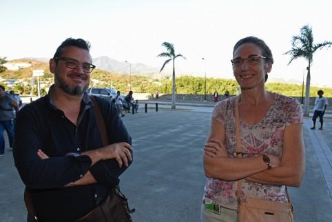 Gilbert Bladinières, chargé de mission pour le projet artistique et culturel du Médipôle, et Liliane Tauru, responsable de l'action artistique et culturelle. © Eric Dell'Erba