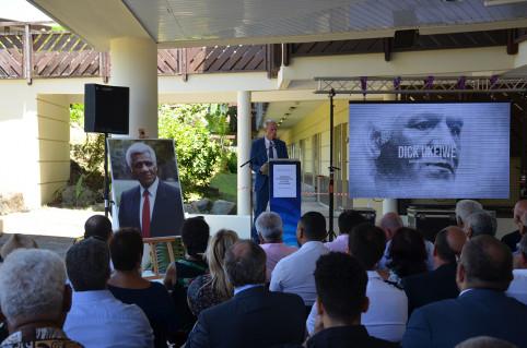 « Cette dénomination nous permet d'inscrire dans la mémoire de l'institution scolaire le parcours remarquable de cet homme qui a consacré sa vie aux autres » a souligné le vice-recteur directeur général des enseignements Érick Roser.