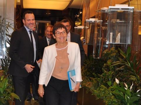 La ministre des Outre-mer Annick Girardin était présente à la Maison de la Nouvelle-Calédonie pour ce rendez-vous.