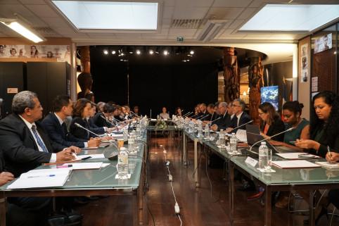 Après Bruxelles, les représentants des PTOM se sont réunis à Paris, avec les représentants de l'État, pour le 12e comité de suivi sur le partenariat UE-PTOM (© Photo MNC)