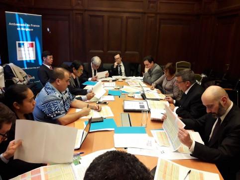 Le comité directeur du Fonds Pacifique s'est tenu à l'Ambassade de France en Belgique, le 21 février.
