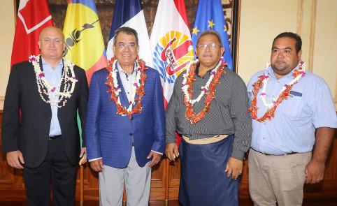 En charge notamment du budget et des finances au gouvernement, Yoann Lecourieux, ici à gauche, a représenté le président Thierry Santa au comité directeur du Fonds Pacifique.