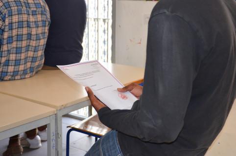 Chaque jeune a reçu un certificat de participation à la JDC.