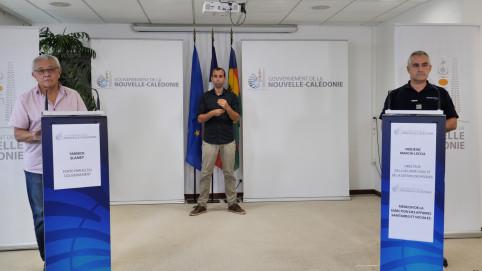 Yannick Slamet, porte-parole du gouvernement, a animé le point presse du 23 septembre aux côtés du colonel Frédéric Marchi-Leccia, directeur de la Sécurité civile et de la gestion des risques.
