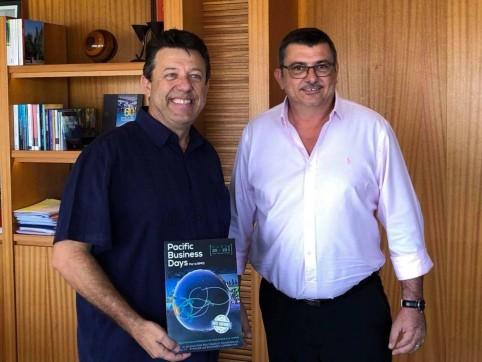 En janvier, Philippe Germain a rencontré Christophe Plee, le président de la Représentation patronale du Pacifique Sud (RPPS) qui organise les Pacific Business Days en Polynésie française.