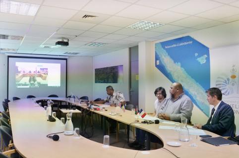 Viamu'a Muliava a participé à la réunion en direct, depuis le siège du gouvernement.