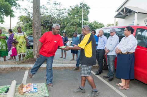 Les associations de locataires des résidences de la SIC se sont associées à cet élan de solidarité en préparant une coutume de bienvenue (© SIC).